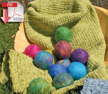 Felting patterns Felted Soap Balls Pattern - Merino Fiber - Pattern download