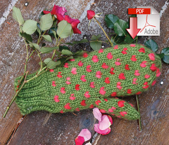 Knitting patterns Snuggly Stuffed Mitten - Pattern download