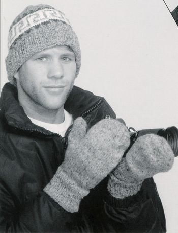 Knitting patterns Clearance -Adult Stocking Cap and Mittens