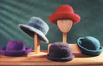 Knitting patterns Fiber Trends-Felt Hat with Brim Variations