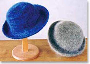 Knitting patterns Felt Hat II - Single Strand