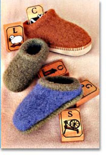 Knitting patterns Fiber Trends- Child's Felt Clogs