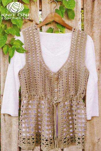 Crochet patterns CLEARANCE Linette Crochet Vest