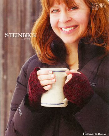 Knitting patterns Steinbeck Mitts - Flywheel Pattern Harrisville Designs