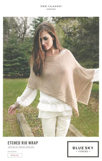 Knitting patterns Etched Rio Wrap