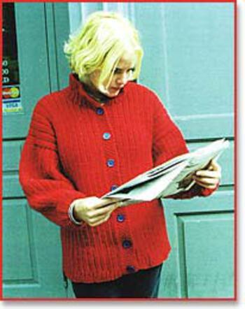 Knitting patterns Peace Fleece Ribbed Jacket Sweater Pattern