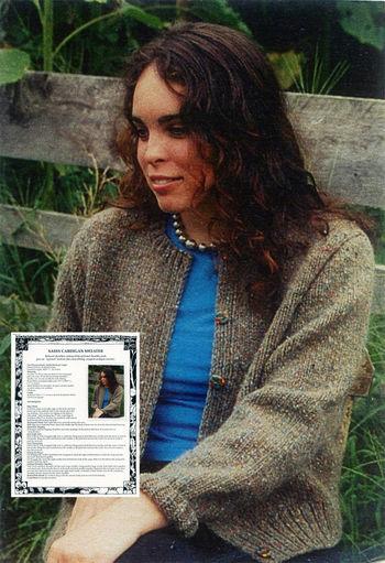 Knitting patterns Sassy Cardigan Sweater
