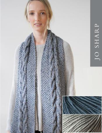 Knitting kits Jo Sharp Audrey May Scarf Kit - Fog
