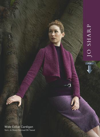Knitting patterns Jo Sharp Wide Collar Cardigan Sweater - Pattern Download