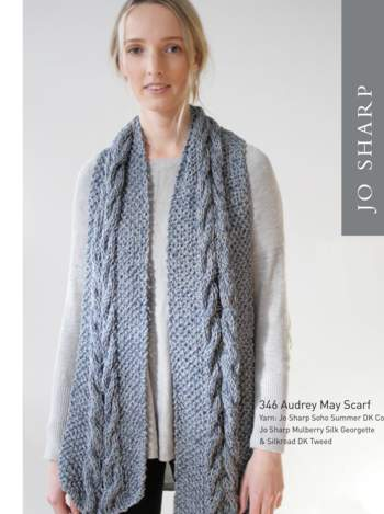Knitting patterns Jo Sharp Audrey May Scarf Pattern