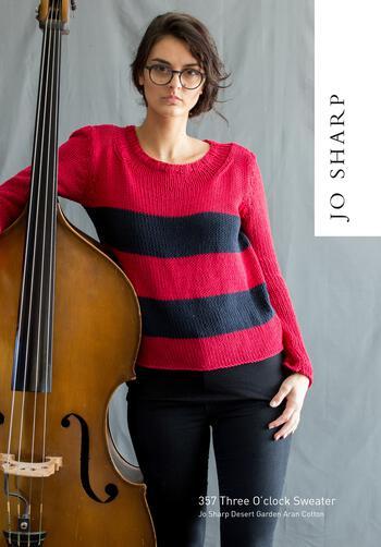 Knitting patterns Jo Sharp Three O'Clock Sweater - Pattern