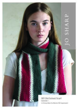 Knitting patterns Jo Sharp Old School Scarf - Pattern