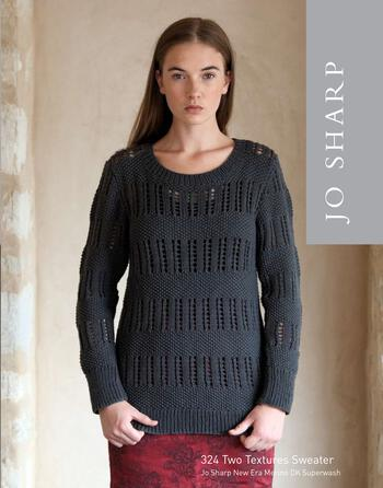 Knitting patterns Jo Sharp Two Textures Sweater - Pattern