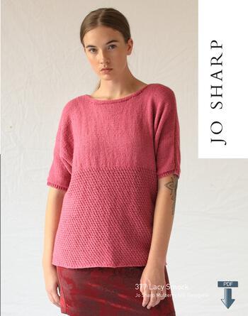 Knitting patterns Jo Sharp Lacy Smock - Pattern Download