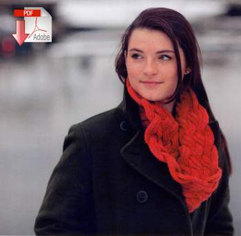 Knitting patterns Swans Island Entwined Cowl - Pattern Download
