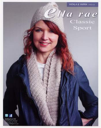 Knitting patterns Yatala Cowl and  Yarra Hat - Ella Rae Sport