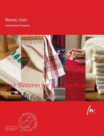 Weaving books Design Collection - Five Patterns for Holiday Weaving, Handwoven eBook Printed Copy