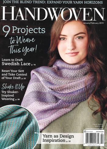 Weaving magazines Handwoven Jan/ Feb 2019