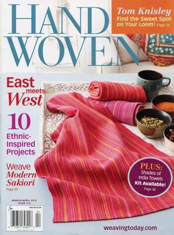 Weaving magazines Clearance - Handwoven March/April 2015