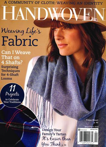 Weaving magazines Handwoven March/April 2018
