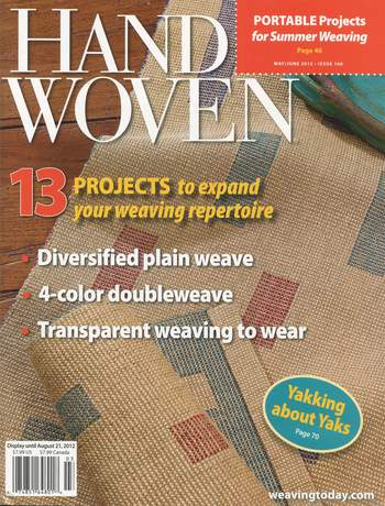 Weaving magazines Clearance - Handwoven May/June 2012