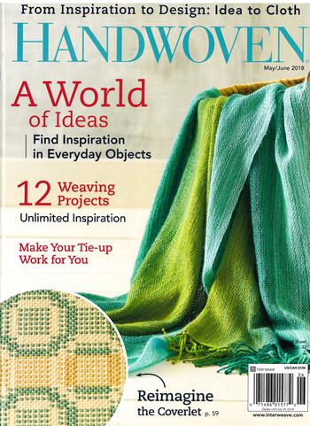 Weaving magazines Handwoven May/June 2018