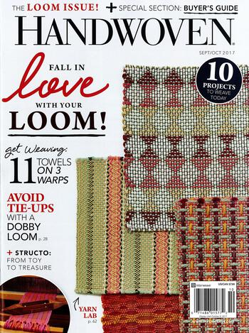 Weaving magazines Handwoven Sept/Oct 2017