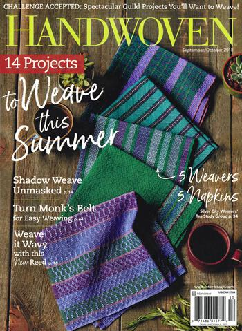 Weaving magazines Handwoven Sept/Oct 2018