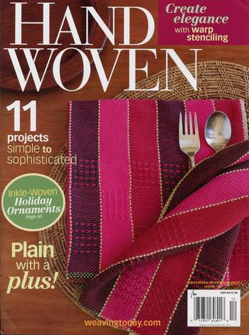 Weaving magazines Clearance - Handwoven Nov/Dec 2014