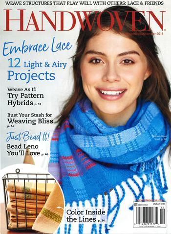 Weaving magazines Handwoven Nov/Dec 2018