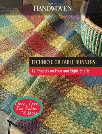 Weaving books Best of Handwoven: Technicolor Table Runners, 12 Projects on Four and Eight Shafts - Handwoven eBook Printed Copy
