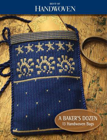 Weaving books A Baker's Dozen: 13 Bags to Weave-Handwoven eBook Printed Copy