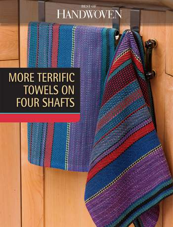 Weaving books Best of Handwoven: More Terrific Towels on Four Shafts -Handwoven eBook Printed Copy
