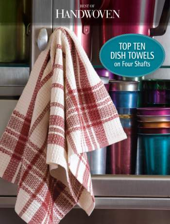 Weaving books Best of Handwoven: Top Ten Dish Towels on Four Shafts - eBook Printed Copy