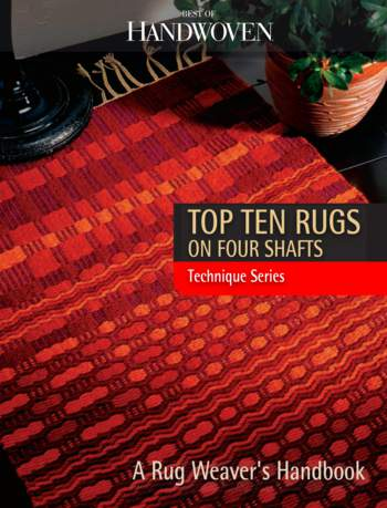 Weaving books Best of Handwoven: Top Ten Rugs on Four Shafts  eBook Printed Copy