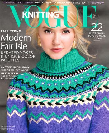 Knitting magazines Vogue Knitting Fall 2018