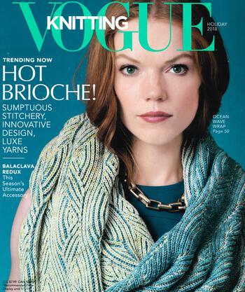 Knitting magazines Vogue Knitting Holiday 2018