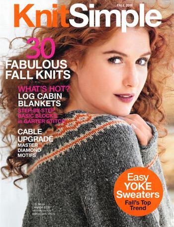 Knitting magazines Knitsimple Fall 2018