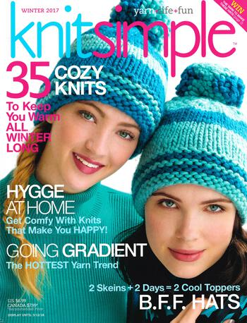 Knitting magazines Knitsimple Winter 2017