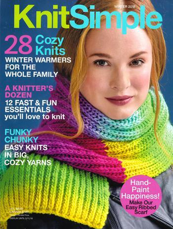 Knitting magazines Knitsimple Winter 2018