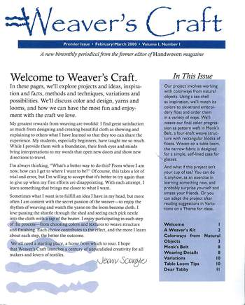 Multi-Craft magazines WEAVER'S CRAFT Jan/Feb 2000 Issue 1