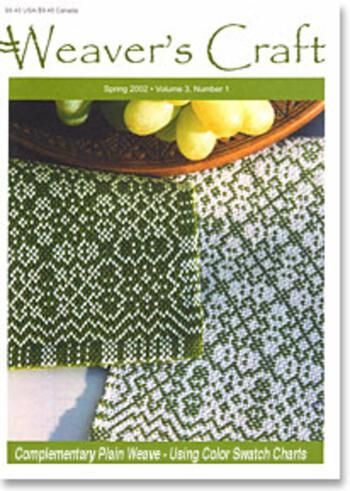 Weaving magazines Weaver's Craft Spring 2002 Issue 11