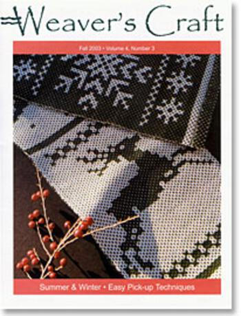 Weaving magazines Weaver's Craft Fall 03 Issue 14
