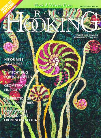 Multi-Craft magazines Rug Hooking Sept/Oct 2017