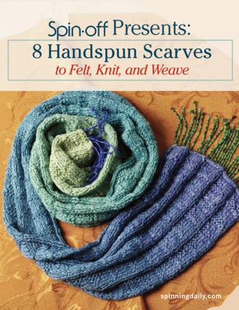 Spinning books Spin-Off Presents: 8 Handspun Scarves to Felt, Knit, and Weave - eBook Printed Copy