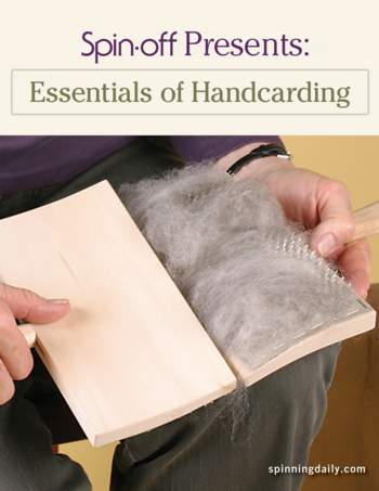 Spinning books Spin-Off Presents: Essentials of Handcarding - eBook Printed Copy