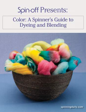 Spinning books Spin-Off Presents:  A Spinner's Guide to Dyeing and Blending - eBook Printed Copy