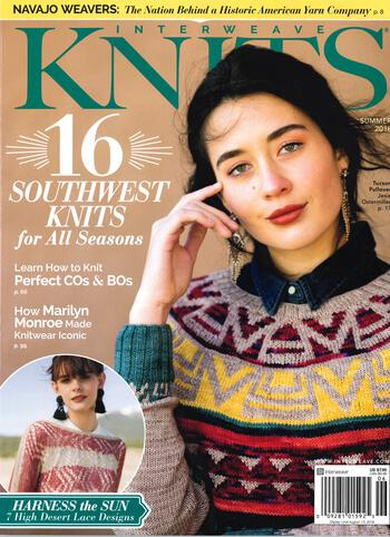 Knitting magazines Interweave Knits Summer 2018