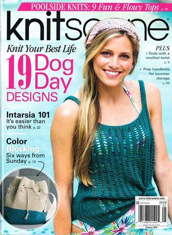 Knitting magazines Knitscene Summer 2018