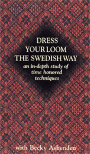 Weaving cd-dvd Dress Your Loom the Swedish Way